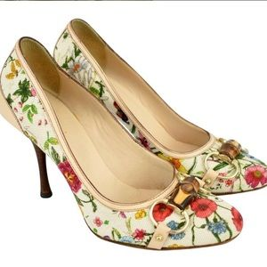 Gucci Floral Print Bamboo Bits and Wooden Hill